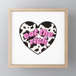 eat the rich! <3 Framed Mini Art Print