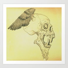 Winged Skull Art Print