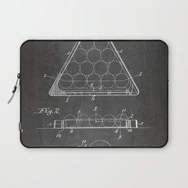 Pool Patent - Billiards Art - Black Chalkboard Laptop Sleeve