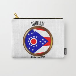 Ohio Proud Flag Button Carry-All Pouch