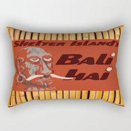 Tiki Art - Bali Hai on Bamboo Rectangular Pillow