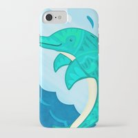 dolphin iPhone & iPod Cases featuring Dolphin by Claire Lordon