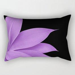 Agave Finesse #10 - Purple on Black #tropical #decor #art #society6 Rectangular Pillow