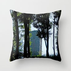 MM - Castle in the forest  Throw Pillow