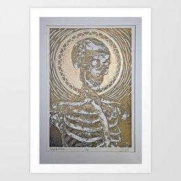 Skeleton Enthroned Art Print