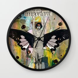 You Are Important Wall Clock