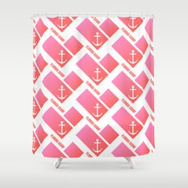 Florida Scarf Fat Pink Logo Shower Curtain