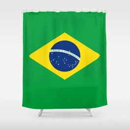 Flag of Brazil - Hi Quality Authentic version Shower Curtain