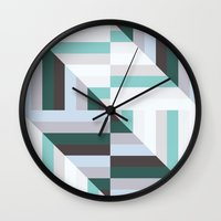 60s Wall Clocks featuring Maze | 60s by Wood + Ink
