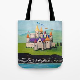 Kids Storybook Castle by the Water Tote Bag