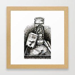 kitchen table series: meditative still life Framed Art Print