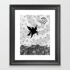 Flight of the alicorn Framed Art Print