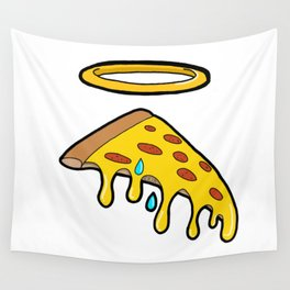 Holy Pizza Grail Crying for Our Sins Wall Tapestry