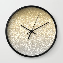 Gold and Silver Glitter Ombre Wall Clock
