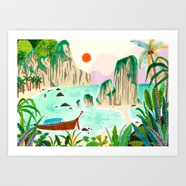 Thailand Travel Art Print