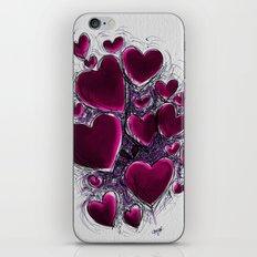 Hearts break. iPhone & iPod Skin