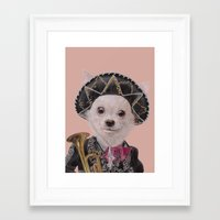 mexican Framed Art Prints featuring Mexican Chihuahua by Rachel Waterman