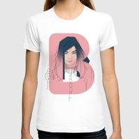 bjork T-shirts featuring B of Bjork by David Alegria