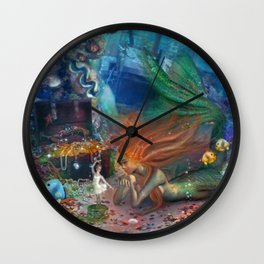 The Mermaid's Treasure Wall Clock