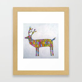 Deer-words Framed Art Print