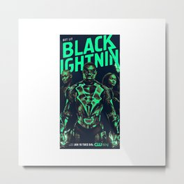 black lightnin Metal Print