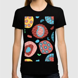 Colorful Irregular Shapes Circles Lines and Dots T-shirt