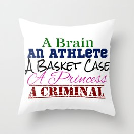 Breakfast Club Convenient Definitions Throw Pillow