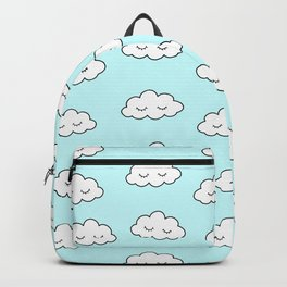 Clouds dreaming in blue with closed eyes and eyelashes Backpack