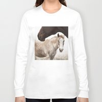 horses Long Sleeve T-shirts featuring Horses by Ash W
