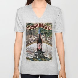 Vintage 1879 St. Louis Anheuser Brewing Lithograph Wall Art Unisex V-Neck