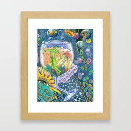 I Drank Too Much Universe Today Framed Art Print