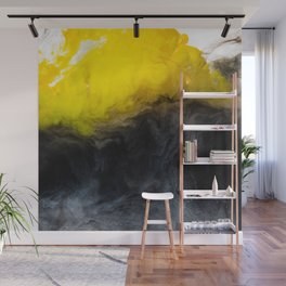 Vivid Mix Of Ink Clouds Wall Mural