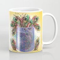 feathers Mugs featuring Feathers by famenxt