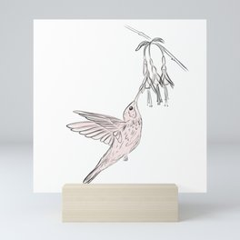 Colibri in flowers Mini Art Print