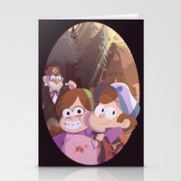 gravity falls Stationery Cards featuring gravity falls by Tae V