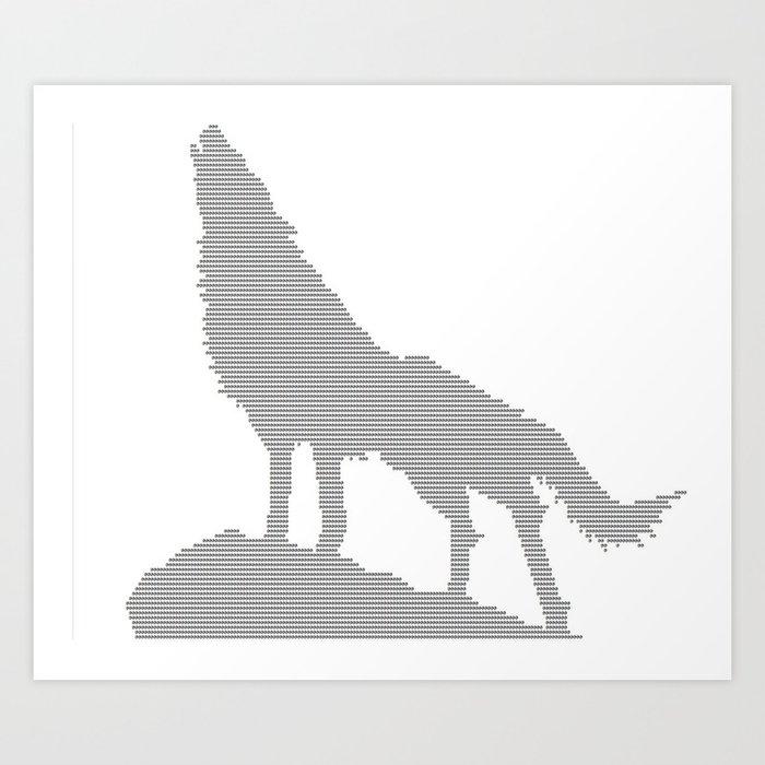 Wolf Ascii Art Print By Ltznomars Society6