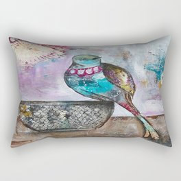 Birdbath Rectangular Pillow