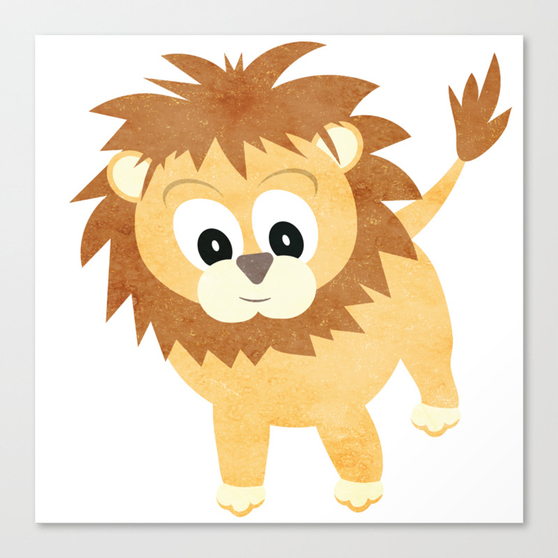 Baby Lion Cub Canvas Print by Antiqueimages CNV8283316