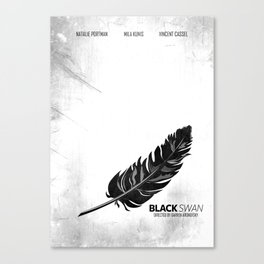 Black Swan - Minimal Canvas Print
