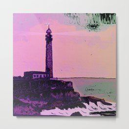 Golden Hours / Lighthouse Barlovento La Palma Metal Print