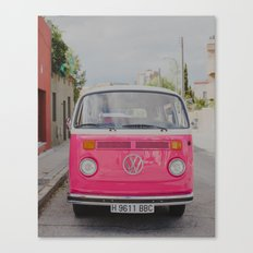 Hot Pink Lady Canvas Print