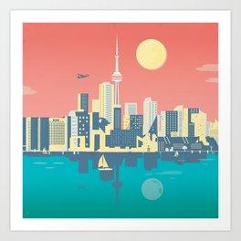 Toronto City Skyline Art Illustration - Cindy Rose Studio Art Print