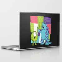 monster inc Laptop & iPad Skins featuring Monster Time by Moysche Designs