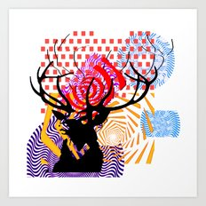 Mrs Stag Art Print