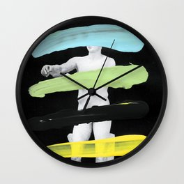 Untitled (Finger Paint 8) Wall Clock