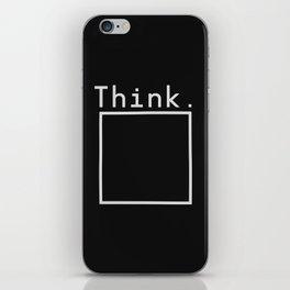 Outside the Box (On Black) iPhone Skin