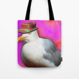 Seagull with Summer Hat Tote Bag