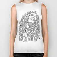 marley Biker Tanks featuring Marley by Ron Goswami