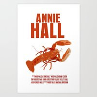 annie hall Art Prints featuring Annie Hall by FunnyFaceArt