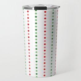 Holiday Hexies Multi Stripe Travel Mug